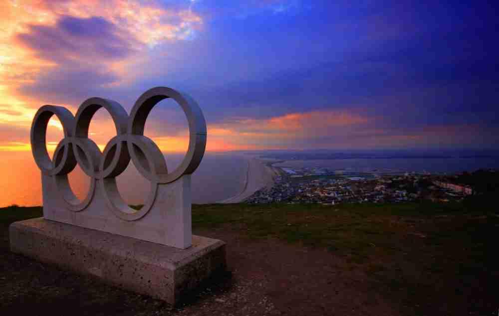 gray olympics concrete block
